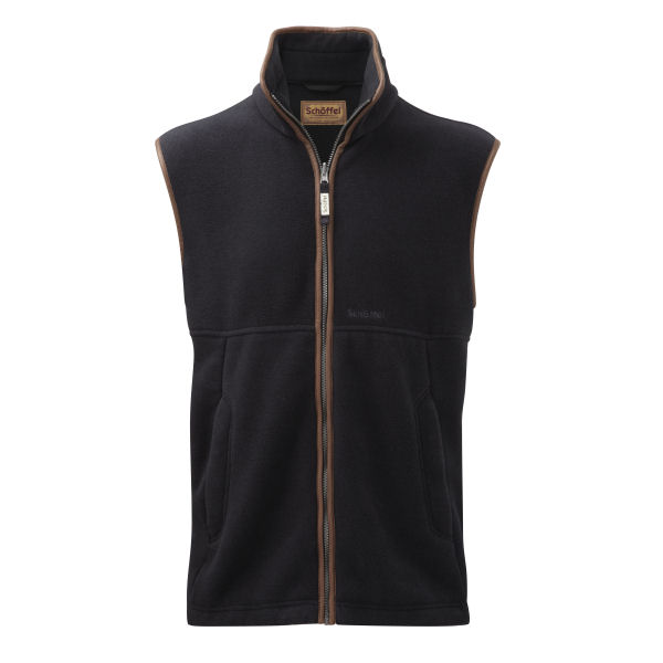 Mens Schoffel Oakham Fleece Gilet in Gunmetal