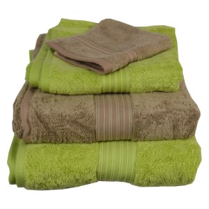 Green Tea and Mocha Towels