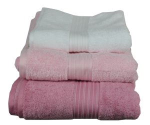 White, Pink and Blush Towels