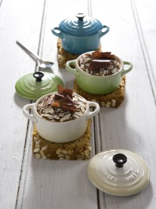 Chocolate Pudding in the 14cm Le Creuset Dishes