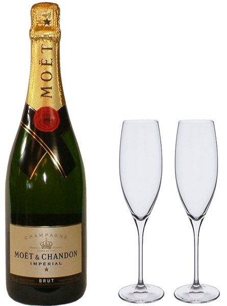 Set of Two Dartington Wine Master Champagne Flutes