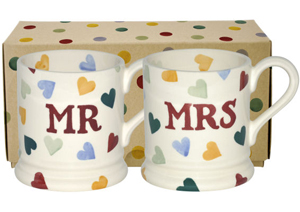 Emma Bridgewater Mr & Mrs Polka-Hearts Mugs