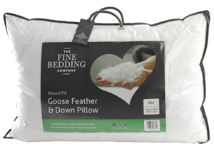 Fine Bedding Goose Feather and Down Pillow