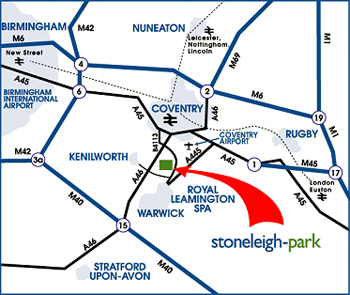 Map showing Stonleigh Park