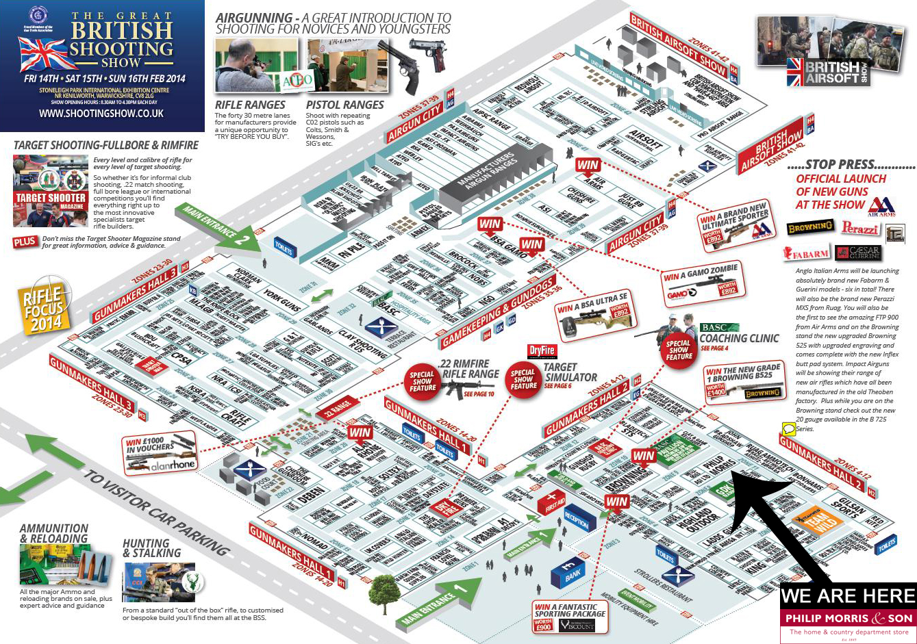 The Shooting Show 2014 Exhibitors Show Plan Layout