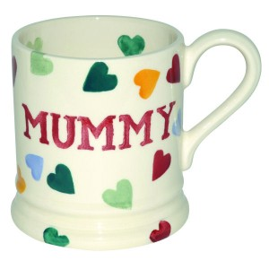 Emma Bridgewater 'Mummy'Mug with polka-hearts