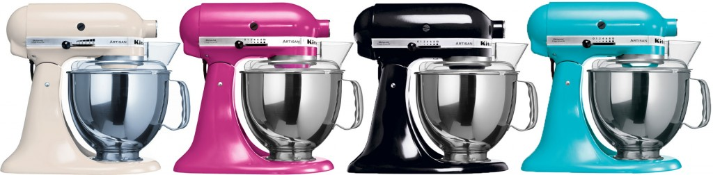 KitchenAid Artisan Mixers in Six Vibrant Colours