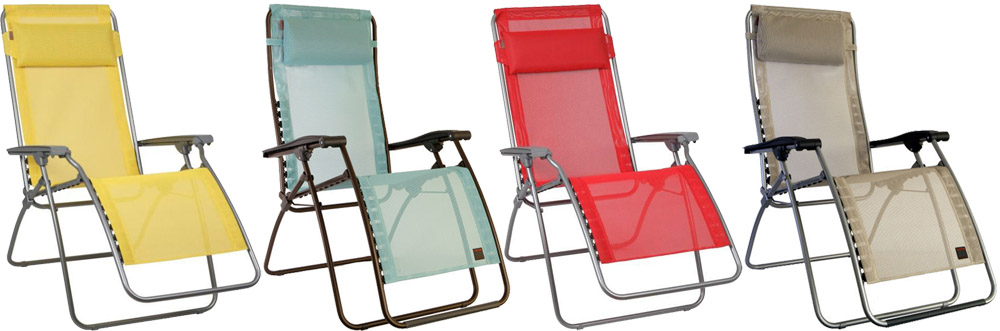 Lafuma R Clip Recliners - For Mum's that love to relax in the garden!