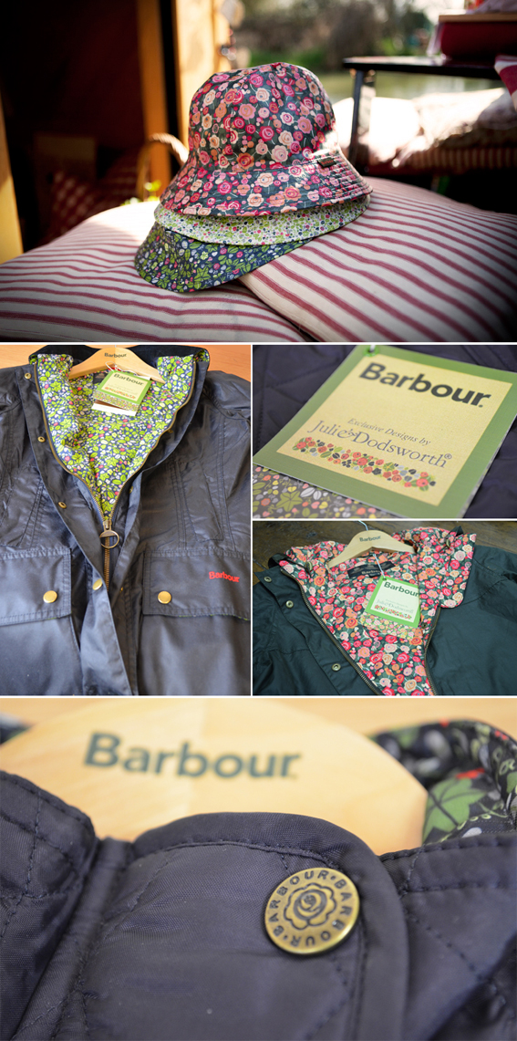 Shots of staple pieces in the Julie Dodsworth for Barbour Collection