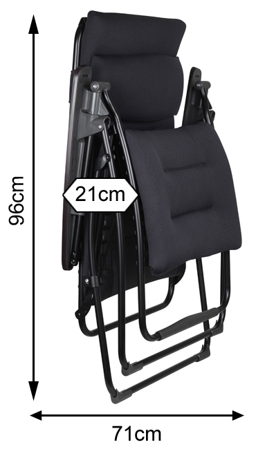 Measurements of a folded Lafuma Futura Air Comfort Recliner