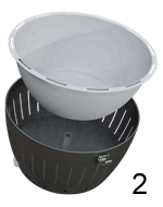 How to 2: Place the inner stainless steel bowl in the outer shell