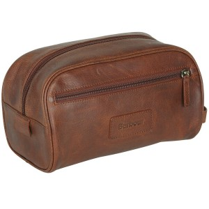 Great looking Barbour Leather Wash Bag - ideal for a man who's always on the move