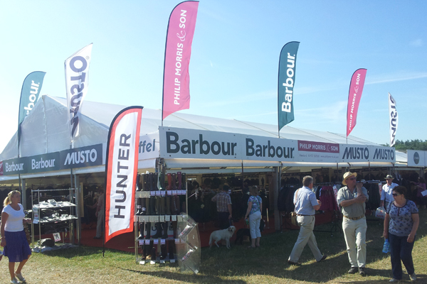Philip Morris and Son Stand at last year's CLA Game Fair