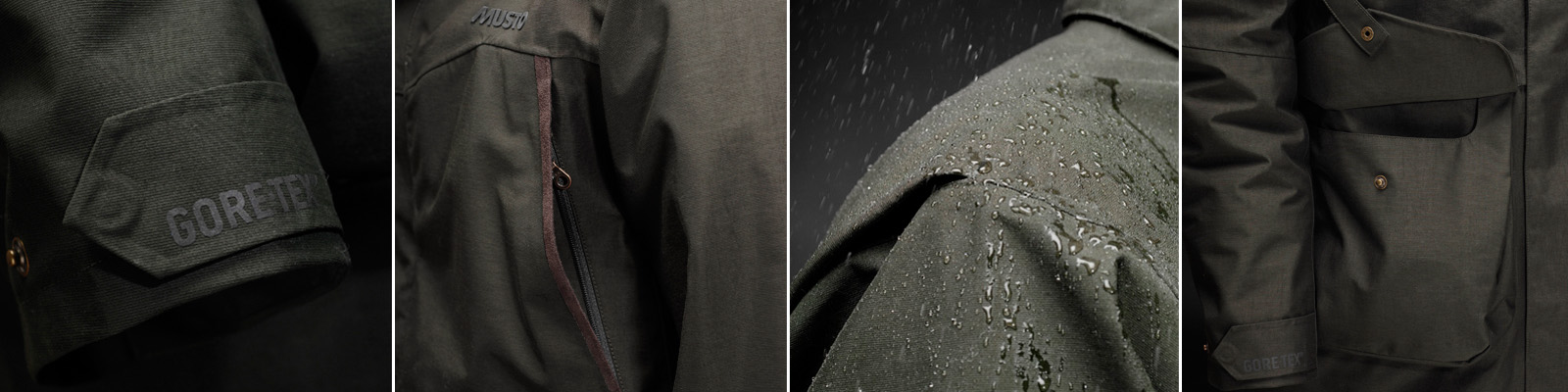 Musto Storm Jacket - Cuff, Handwarmer Pocket, DWR finish and Cartridge pockets with retainer