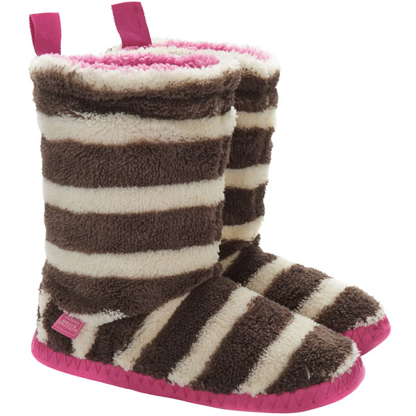 Joules Fluffy Slipper Sock Boots as a gift for her - £19.95
