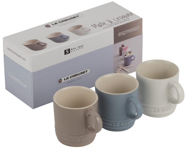 Set of 3 Le Creuset Espresso Mugs as a gift for her - £25.50