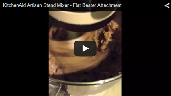 Flat Beater attachment to a KitchenAid Artisan Stand Mixer