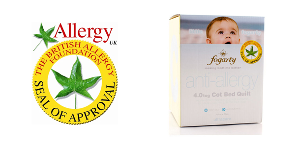 Fogarty Ultracare Anti Allergy 4.0 Tog Cot Bed Duvet available at Philip Morris and Son