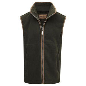 Mens Schoffel Oakham fleece gilet at Philip Morris and Son
