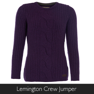 Barbour Lemington Crew Jumper available at Philip Morris and Son