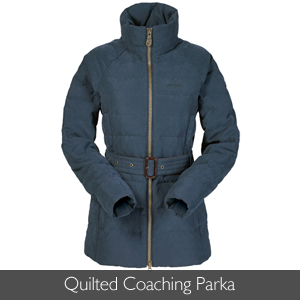 Musto Ladies Quilted Coaching Parka available at Philip Morris and Son