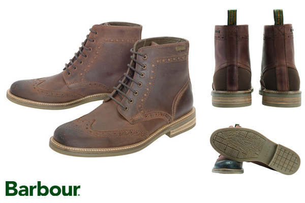 Timeless Barbour Belsay Brogue Derby Boots at Philip Morris and Son