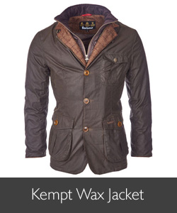 Men's Barbour Kempt Wax Jacket available at Philip Morris and Son