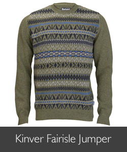 Barbour Men's Kinver Fairisle Jumper available at Philip Morris and Son