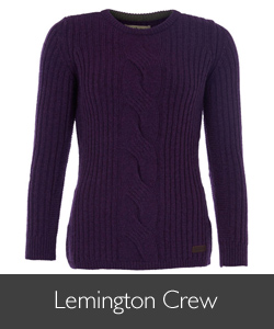 Ladies Barbour Lemington Crew-Neck Jumper for AW15