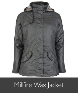 Ladies Barbour Millfire Wax Jacket for AW15