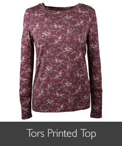 Ladies Barbour Tors Printed Top for AW15