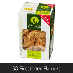 Certainly Wood 50 Firestarter Flamers available at Philip Morris and Son
