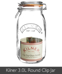 Kilner 3.0L Round Clip Jars are perfect for preserves