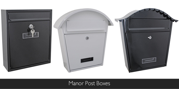 Manor Post Boxes are available at Philip Morris and Son