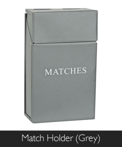 Manor Match Holder in Grey at Philip Morris and Son