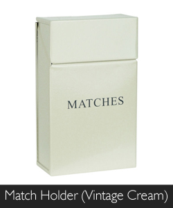 Manor Match Holder in Vintage Cream at Philip Morris and Son