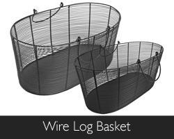 Manor Wire Log Basket at Philip Morris and Son