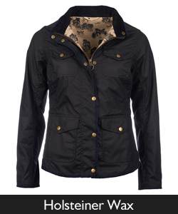 Ladies Barbour Holsteiner Waxed Jacket