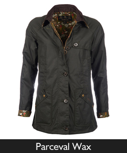 Ladies Barbour Parceval Waxed Jacket