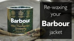 Re-waxing your Barbour Jacket