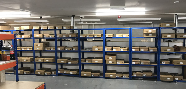 Barbour footwear orders lining the warehouse shelves